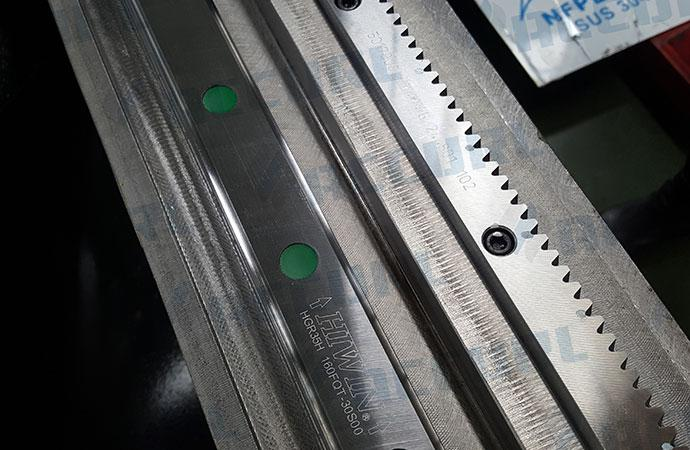 Linear guide and Rack