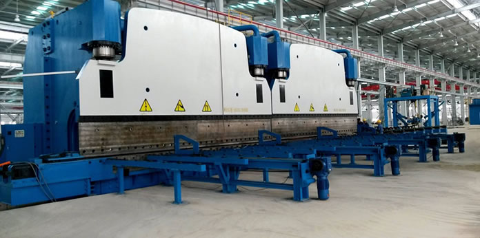Hydraulic CNC Tandem Press Brake for Light Pole Production, Octagonal Pole Bending
